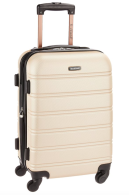 Rockland Melbourne 20-Inch Expandable Abs Carry On Luggage Champagne